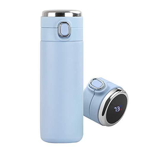 Frasco De Vacío Inteligente Botella De Agua De Acero Inoxidable Con Pantalla De Temperatura LED, 420 Ml Taza Aislada De Doble Pared A Prueba De Fugas De Vacío Para Interiores Y Exteriores