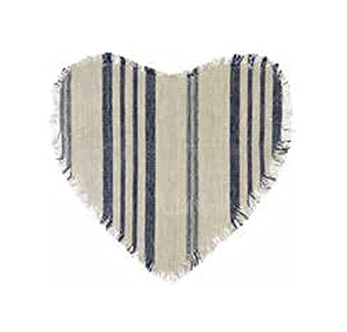 Blanc Mariclò Collezione MOUSTACHE Tovaglietta a cuore 35 x 35 cm 100% cotone