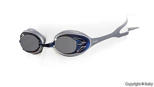 Fashy® - Power Mirror Schwimmbrille, Tauchbrille verspiegelt mit Antifog und UV-Schutz Silber - (4156-12)