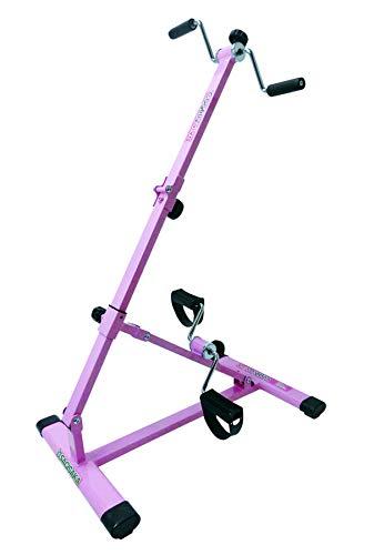 サギサカ(SAGISAKA) フィットネスバイク ルームサイクルこげーるVIVA 自宅で簡単に手足のトレーニングができる 折りたたみ式でコンパクト収納 9031 ピンク