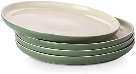 DOWAN Dinner Plates Porcelain Serving Platter 10 Inches Dessert Salad Plates Set of 4 Ceramic product image