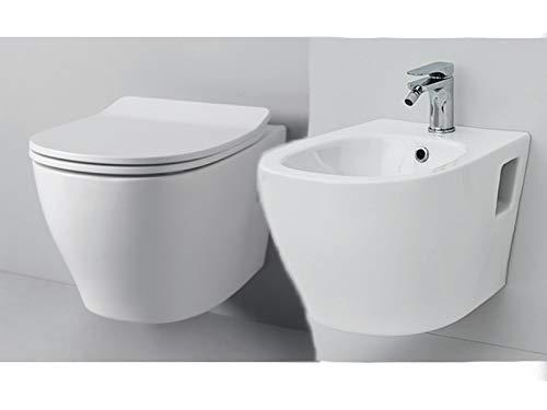 Artceram Ten 4.0 Sanitär-Hängeampel, Bidet und Übertopf