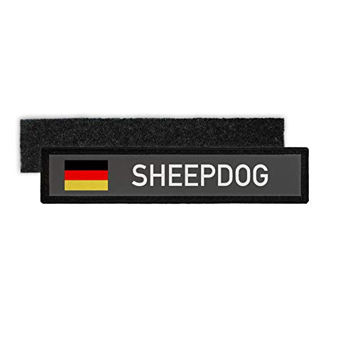 Copytec naamspatch Sheepdog herderhond hond servies frame vlag badge #30410