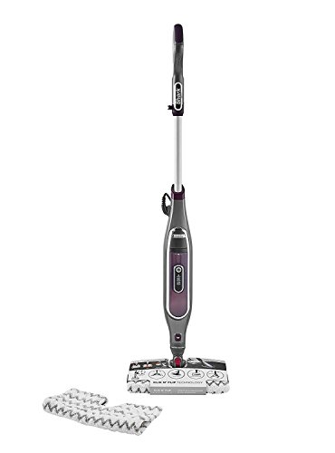 Shark [S6003UK] Klik n' Flip Smartronic Deluxe Mop, Bordeaux/Steel Grey, Plastic, Red