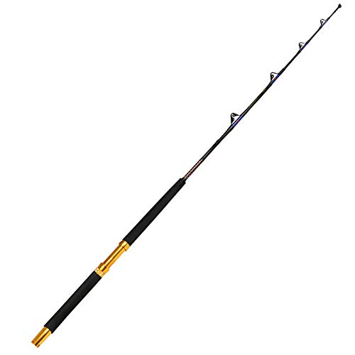 Fiblink Saltwater Fishing Trolling Rod 1 Piece Heavy Roller Rod Big...
