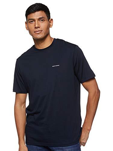 Armani Exchange Pima Logo Camiseta, Azul (Navy 1510), X-Large para Hombre