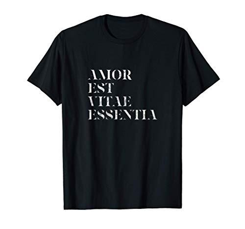 Amor Est Vitae Essentia El día de San Valentín Boda Regalo Camiseta