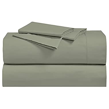 Solid Sage Percale Queen Size Sheet Set 100 % Cotton (Deep Pocket) 300 Thread count By Sheetsnthings