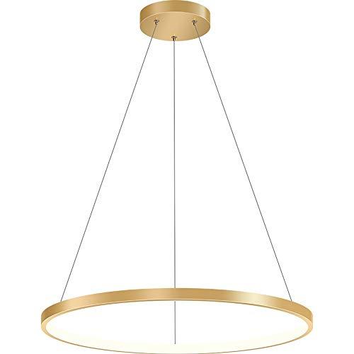 Moderno colgante Luz LED de cocina Isla de la isla Lámpara de mesa de comedor 26W Acrílico Colgando iluminación Luminaria regulable Araña helada dorada Adecuada para Villa Sala de estar Dormitorio