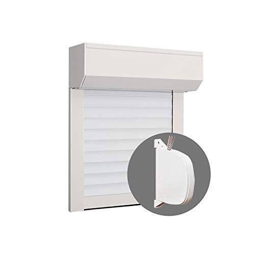 Volet Roulant PVC blanc H 155 cm x L 150 cm à sangle