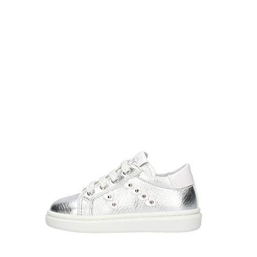 Nero Giardini E021335F Sneakers Kids da Bambina in Tela - Silver 21 EU
