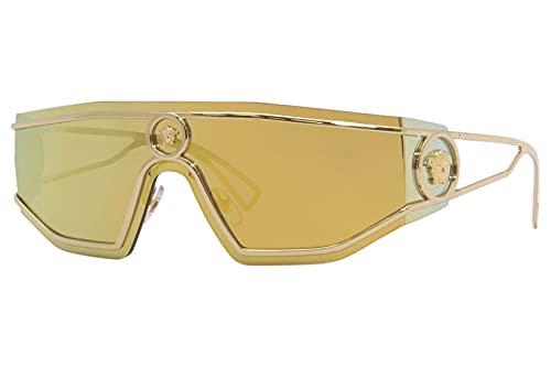 Versace Gafas de Sol SHIELD MEDUSA VE 2226 Gold/Gold 45/14/115 hombre