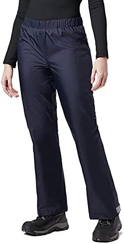 BenBoy Pantaloni Impermeabili Donna Traspirante Pantaloni da Pioggia Trekking Outdoor YK5411W-Darkblue-M
