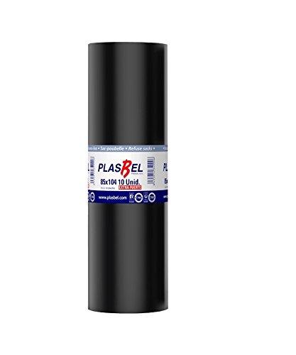 PLASBEL - Rollo bolsa basura 120 Litros - 85x104 cm extra grande ideal para contenedores y cubos XL grandes. Extra fuerte y antigoteo. 10 ud