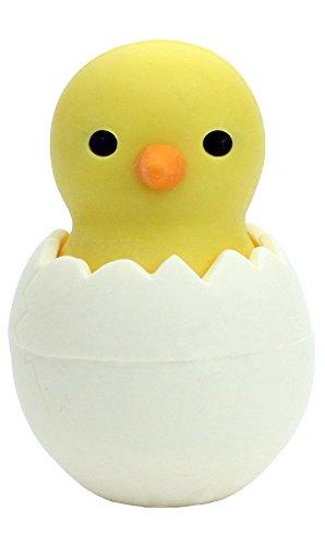 Gomma per cancellare con pulcino giallo nell'uovo, Iwako