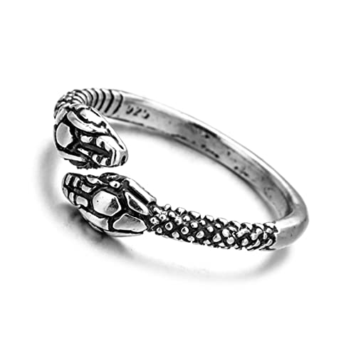 Fashion Retro Exaggerated Snake Ring Women Men Punk Snake-Shaped Gold Color Open Adjustable Ring Trend Jewelry Gift