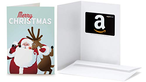 Amazon.co.uk Gift Card in a Santa and Rudolph Greeting Card