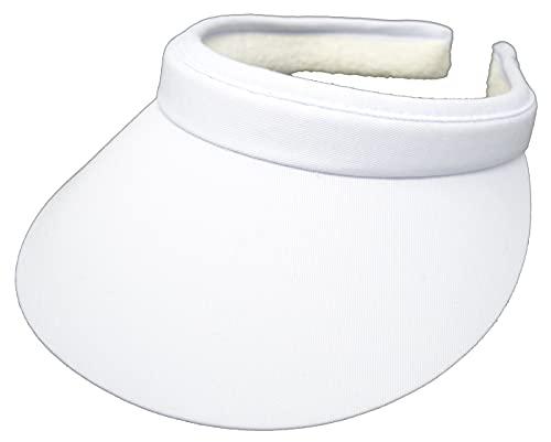 Cushees Cloth Covered Slip-On Visor [233] (White)