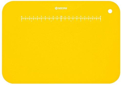 京セラ 日本製 まな板 約 30×20 cm イエロー 抗菌 まな板立て 付き 柔らかい 薄い 軽い Kyocera CC-99 YL