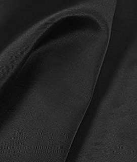 Jet Black Bengaline Faille Fabric - by the Yard