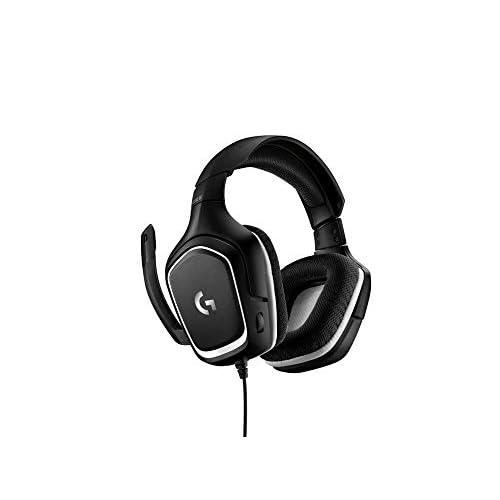 Logitech G332 Cuffie Gaming Cablate, Audio Stereo, Driver da 50 mm, Jack Audio 3.5 mm, Microfono Flip-To-Mute, Padiglioni Rotanti, Leggere, PC/Mac/Xbox One/PS4/Nintendo Switch, Nero Sportmesh
