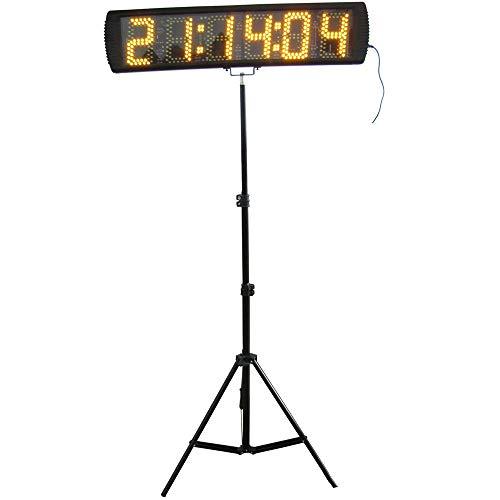 Temporizador con Pantalla LED Portátil 5 '' de alta 6 dígitos LED de carreras del reloj con el trípode for Ejecución de Eventos, Cuenta atrás / arriba Race Timer Digital LED reloj de cuenta atrás del
