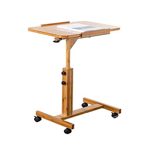 Yxsd Escritorio portátil del sofá de la mesa de la cabecera del ordenador portátil, escritorio ajustable del ordenador de la altura Escritorio robusto del cuaderno con la estación de trabajo de las ru