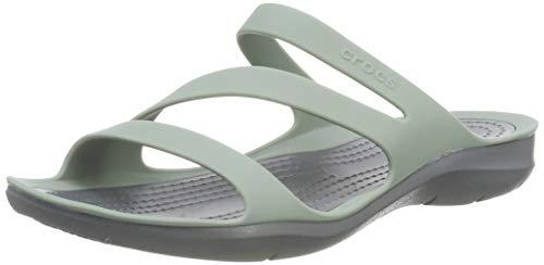 Crocs Damen Swiftwater Sandalen, Grau (Dusty Green/Charcoal 3te), 42/43 EU