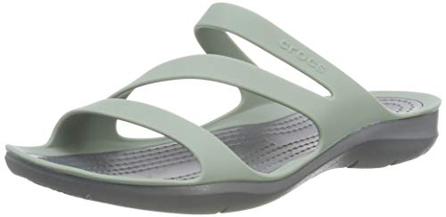 Crocs Damen Swiftwater Sandalen, Grau (Dusty Green/Charcoal 3te), 41/42 EU