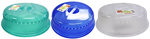 Set of 3-10' Microwave Food Covers with Vent In Assorted...
