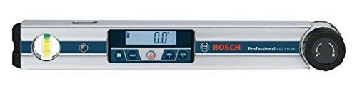 Bosch Professional Digitales Winkelmessgerät GAM 220 MF (Berechnung von Gehrungswinkeln, Schenkellänge: 0 - 220º, Länge: 40 cm)
