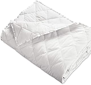 Hypoallergenic 230 TC Down Blankets with Satin Trim - Light Weight - Perfect for Summer - Available in White & Ivory - 94