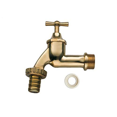 3P Technik Filtersysteme Auslaufhahn Absperrhahn Wasserhahn Messing 3/4', inkl. Teflonband für Ihre Regentonne BZW. Regenwassertonne oder Regenwassertank