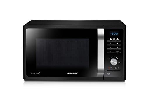 Samsung MG23F301TAK/EC Microondas con Grill, 23 Litros de Capacidad, Potencia 800W/1100 W, Interior Cerámico Enamel, Sistema de Ondas TDS, Color Negro, (An x Al x Prof) 490 x 275 x 392 mm