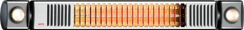 AEG Infrarot-Heizstrahler IR Premium Plus 1650 W mit Halogenspots, hocheffiziente Qualitäts-Goldröhre, nicht-rostend  für Terrasse, Garten, Balkon, Gastronomie, 229947