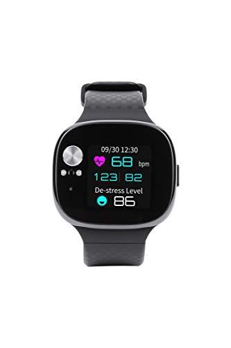 ASUS VivoWatch BP aus Keramik, Frequenz und Herzdruck, Beschleunigungsmesser und GPS, Schlafqualität und Stress-Level, Akkulaufzeit bis zu 15 Tage, Bluetooth, Android und iOS.