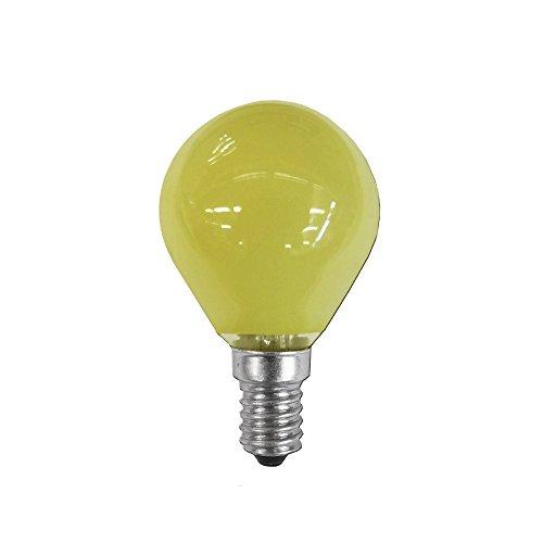 clar-leuci – Glühlampe Esferica, gelb, 25W, 230V, E-14