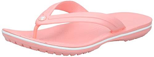 crocs Unisex-Erwachsene Crocband Flip Flop Zehentrenner, Melon/White, 41/42 EU
