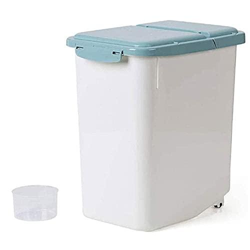n.g. Wohnzimmer-Accessoires Getreide-Aufbewahrungsbox Getreidebehälter Reis-Aufbewahrung Große Küchen-Reis-Aufbewahrungsbox Mit Rad Getreidebehälter Koffer Versiegelter Kunststoff-Reisbehälter Mehl