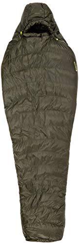 Marmot Unisex's Fase 30 Mummy, 850 ganzenvulling, extra lang, zeer lichte en warme slaapzak, Nori, 198 cm/linker rits