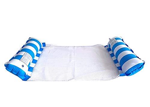 HSY SHOP Confezione da 2 Amaca Galleggiante per Piscina Premium 4 in 1, Amaca Gonfiabile Multiuso (Sella, Poltrona, Amaca, Drifter), Amaca sull'acqua (Color : Blue)
