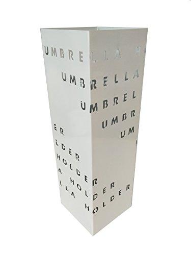 King Home PORTAOMBRELLI Quadro Bianco Umbrella, 16x16x49 cm