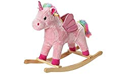 Help your little one to experience some magic with their very own unicorn. This rocking horse has a soft body which your children will love to stroke as they ride on it. Once they've hopped on to the built-in saddle they can ride away to any adventur...