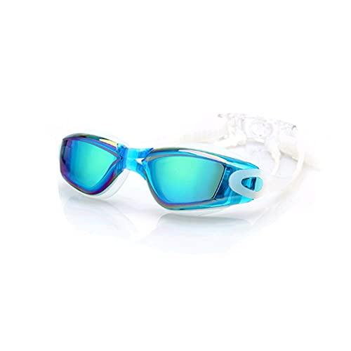 JYDZSW Gafas de natación 1 par de galvanoplastia UV Gafas de Agua de Buceo a Prueba de Agua a Prueba de Agua a Prueba de Agua Gafas de Agua Ajustables para Adultos (Color : Sky Blue)