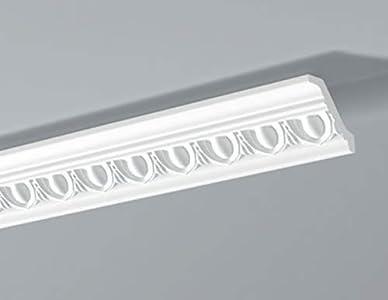 Cornisa/Moldura decorativa techo blanca NMC DYNAMICSKIN® E23 55X55X2000mm Poliestireno 2 metros