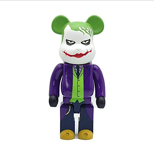 ¡Figura de Bearbrick!The Joker Modelo Figura de acción Figurine / Dormitorio Artwork Famous personaje de dibujos animados Modelo de compañero original de Beerbrick Series 28 cm, Decoraciones de escrit