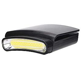 Lumière de chapeau de chapeau de LED, pince de torche de mini lampe de poche sur la lampe de visière de chapeau, mains…