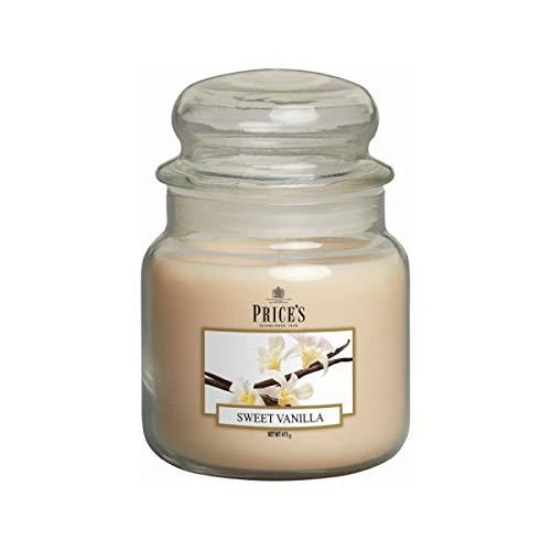 Pris ljus medium burk ljus, söt vanilj (doftområde)