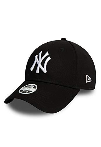 New Era Damen Essential 9Forty Adjustable Cap NY Yankees Schwarz Weiß, Size:ONE Size