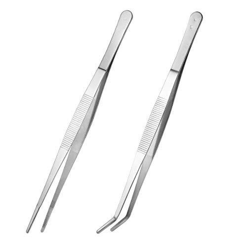 VORCOOL 2 piezas de pinzas rectas y curvas pinzas pinzas de